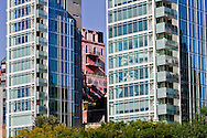 Julian Schnabel's, Palazzo Chupi, Tower of Pink Power, Apartment Building Perry West Designed by Richard Meier,  Late Modern, International Style, New York City, New York, USA