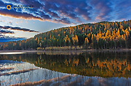 Autumn reflections in Spencer Lake near Whitefish, Montana, USA