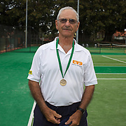Stuart Robb, New Zealand, Semi Finalist, 80 Mens Doubles during the 2009 ITF Super-Seniors World Team and Individual Championships at Perth, Western Australia, between 2-15th November, 2009.