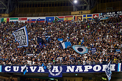 NAPLES, ITALY - Tuesday, September 17, 2019: SSC Napoli supporters during the UEFA Champions League Group E match between SSC Napoli and Liverpool FC at the Studio San Paolo. (Pic by David Rawcliffe/Propaganda)