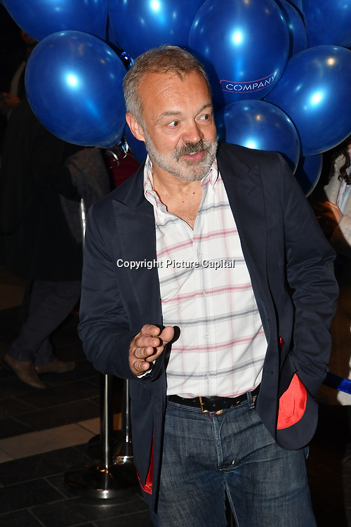 Graham Norton attend the Company - Opening Night at Gielgud Theatre, London, UK. 17 October 2018.