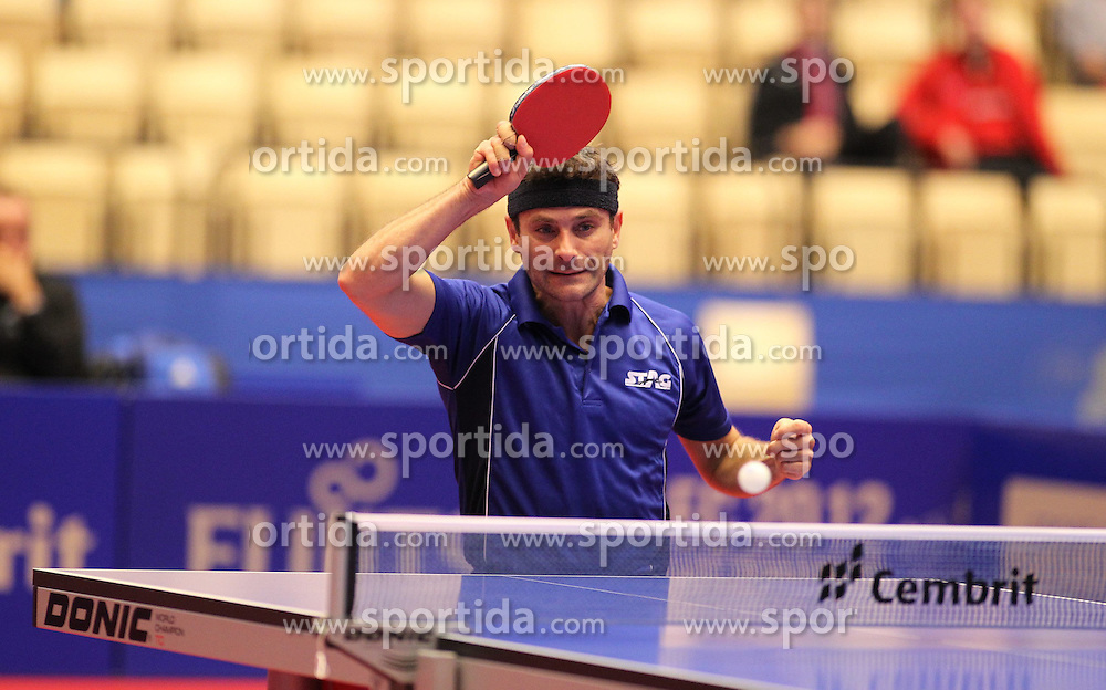 19.10.2012, MGH Arena, Herning, DEN, ETTU, Tischtennis Europameisterschaft, im Bild Kalinikos KREANGA (GRE) bei der Ballannahme // during the Table Tennis European Championships at the MGH Arena, Herning, Denmark on 2012/10/19. EXPA Pictures © 2012, PhotoCredit: EXPA/ Eibner/ Wuest ***** ATTENTION - OUT OF GER *****
