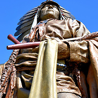 Chief Washakie of Shoshone Tribe Statue at State Capitol in Cheyenne, Wyoming<br />
