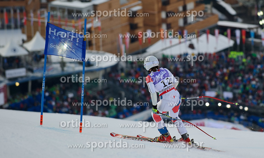 05.02.2013, Planai, Schladming, AUT, FIS Weltmeisterschaften Ski Alpin, Super G, Damen, im Bild Tina Weirather (LIE) nach ihrem Ausfall // Tina Weirather of Liechtenstein in action during ladies SuperG at the FIS Ski World Championships 2013 at the Planai Course, Schladming, Austria on 2013/02/05. EXPA Pictures © 2013, PhotoCredit: EXPA/ Sandro Zangrando