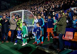 BIRKENHEAD, ENGLAND - Friday, January 4, 2019: Tottenham Hotspur's captain Dele Alli leads his team out before the FA Cup 3rd Round match between Tranmere Rovers FC and Tottenham Hotspur FC at Prenton Park. (Pic by David Rawcliffe/Propaganda)
