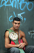 BOXING - WBC SUPER MIDDLEWEIGHT ROB REID OUTSIDE THE COLLYHURST AND MOSTON LADS CLUB ..PIC BY HOWARD BARLOW.
