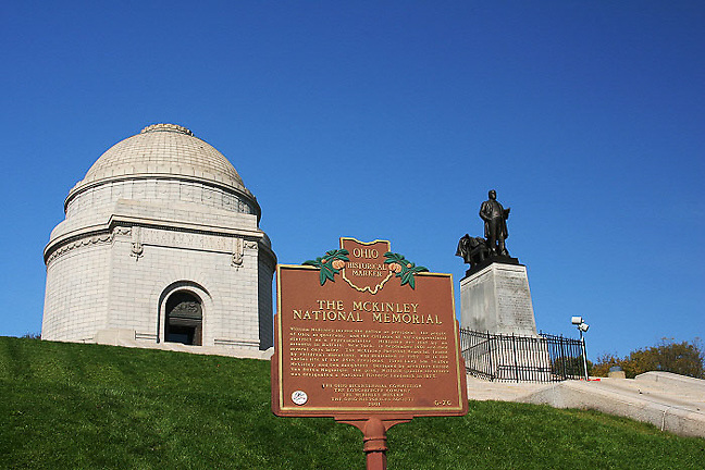 McKinley National Memorial.  President William McKinley. 25th president.  Historic Marker. Canton, Ohio.