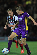 Craig Disley and Danny Wright during the Vanarama National League match between Grimsby Town FC and Cheltenham Town at Blundell Park, Grimsby, United Kingdom on 30 October 2015. Photo by Antony Thompson.