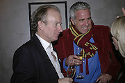 David Campbell and Paul Blezard, Charles Finch and Weidenfeld and Nicolson host a party to celebrate the publication of 'Dancing Into Battle' by Nick Foulkes. The Westbury Hotel, Conduit St. London. 14 December 2006. ONE TIME USE ONLY - DO NOT ARCHIVE  © Copyright Photograph by Dafydd Jones 248 CLAPHAM PARK RD. LONDON SW90PZ.  Tel 020 7733 0108 www.dafjones.com
