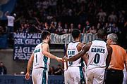 Gaines Frank Pallacanestro Cantu' Esultanza<br /> Pallacanestro Cantu' - Basket Leonessa Brescia<br /> Basket Serie A LBA 2018/2019<br /> Desio 07 April 2018<br /> Foto Mattia Ozbot / Ciamillo-Castoria
