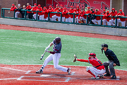 NORMAL, IL - April 08: Ben Whetstone during a college baseball game between the ISU Redbirds  and the Missouri State Bears on April 08 2019 at Duffy Bass Field in Normal, IL. (Photo by Alan Look)