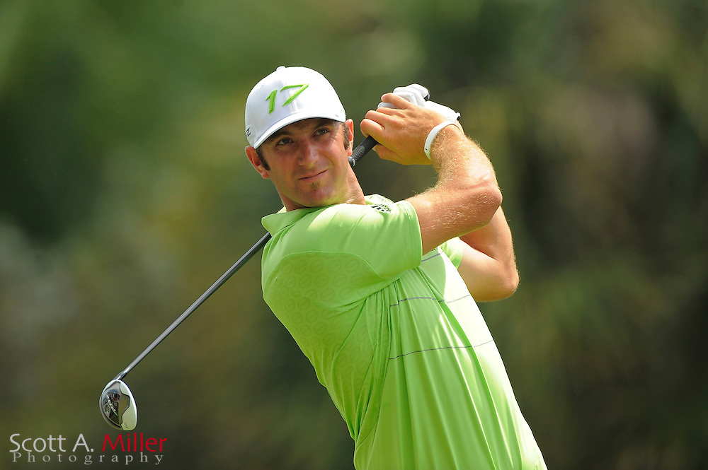 Dustin Johnson during the third round of the World Golf Championship Cadillac Championship on the TPC Blue Monster Course at Doral Golf Resort And Spa on March 10, 2012 in Doral, Fla. ..©2012 Scott A. Miller.