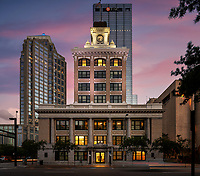 I was hired to produce architectural photography of one of Tampa's oldest buildings, Tampa City Hall. My clients renovated and restored the aging building to its original glory.
