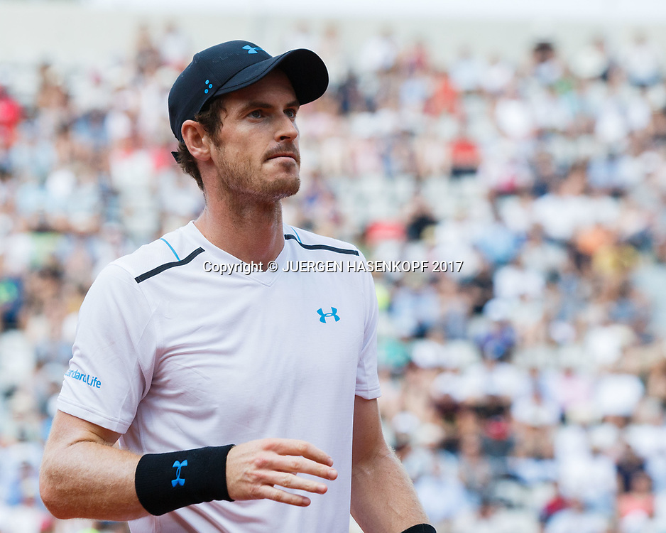ANDY MURRAY (GBR)<br /> <br /> Tennis - French Open 2017 - Grand Slam / ATP / WTA / ITF -  Roland Garros - Paris -  - France  - 1 June 2017.