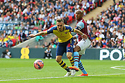 Arsenal's Aaron Ramsey on the ball during the The FA Cup match between Arsenal and Aston Villa at Wembley Stadium, London, England on 30 May 2015. Photo by Phil Duncan.