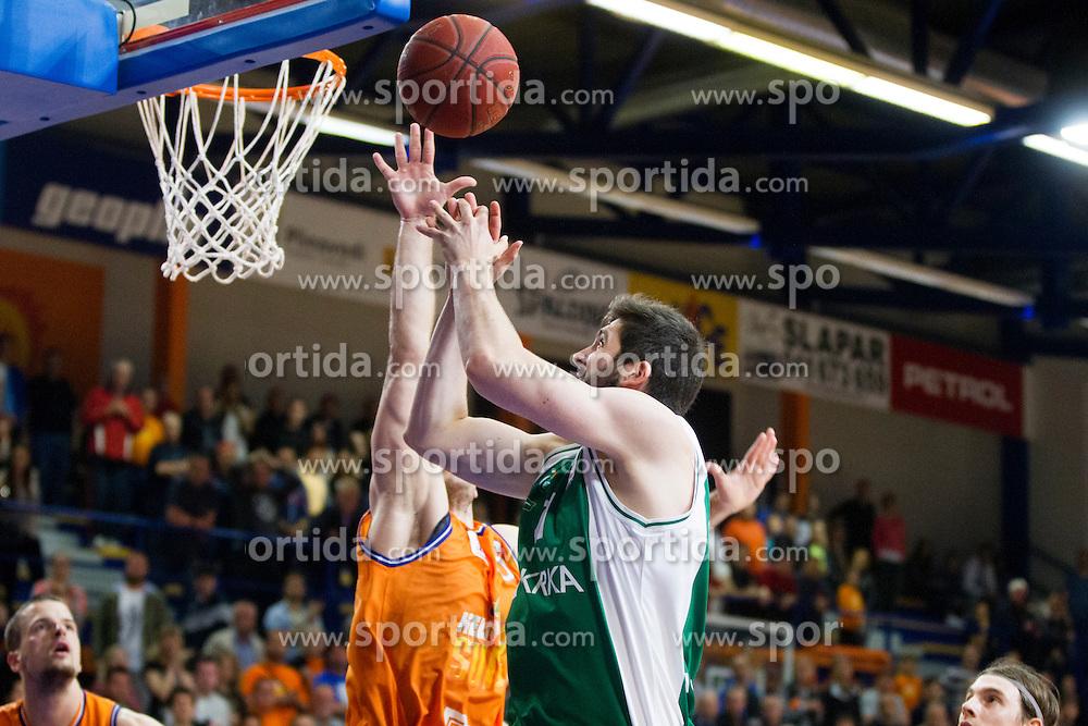 during basketball match between KK Helios Suns and KK Krka in semi-final of Nova KBM Champions League 2015/16, on May 23, 2016 in Hala Kominalnega Centra, Domzale, Slovenia. Photo by Urban Urbanc / Sportida