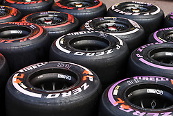 May 23, 2018 - Montecarlo, Monaco - Pirelli P Zero tyres compound Pink of Hypersofts, Purple of Ultrasoft and Red of supersoft  during the Monaco Formula One Grand Prix at Monaco on 23th of May, 2018 in Montecarlo, Monaco. (Credit Image: © Xavier Bonilla/NurPhoto via ZUMA Press)