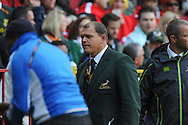 CAPE TOWN, SOUTH AFRICA - Saturday 28 September 2013, former French prop and now with the Springbok management, Pieter de Villiers, during the Castle Lager Rugby Championship test match between South Africa (Sprinkboks) and Australia (Wallabies) at DHL Newlands in Cape Town.<br /> Photo by Roger Sedres/ ImageSA