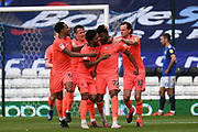 Goal  0-2 Huddersfield Town forward Fraizer Campbell (22) scores a goal from open play 0-2 and celebrates during the EFL Sky Bet Championship match between Birmingham City and Huddersfield Town at the Trillion Trophy Stadium, Birmingham, England on 1 July 2020.