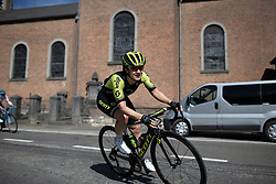 Grace Brown (AUS) of Mitchelton Scott Cycling Team leans into a corner during the Fleche Wallonne Femme - a 118.5 km road race, starting and finishing in Huy on April 24, 2019, in Liege, Belgium. (Photo by Balint Hamvas/Velofocus.com)