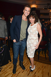 RICHARD FLEESHMAN and FRANCES RUFFELLE at a private performance by Frances Ruffelle entitled 'Paris Original' at The Crazy Coqs, Brasserie Zedel, 20 Sherwood Street, London on 8th October 2013.