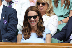 July 14, 2019 - London, London, United Kingdom - Image licensed to i-Images Picture Agency. 14/07/2019. London, United Kingdom. The Duke and Duchess of Cambridge  watch  the Men's Singles Final on the last day of the Wimbledon Tennis Championships in London. (Credit Image: © Stephen Lock/i-Images via ZUMA Press)