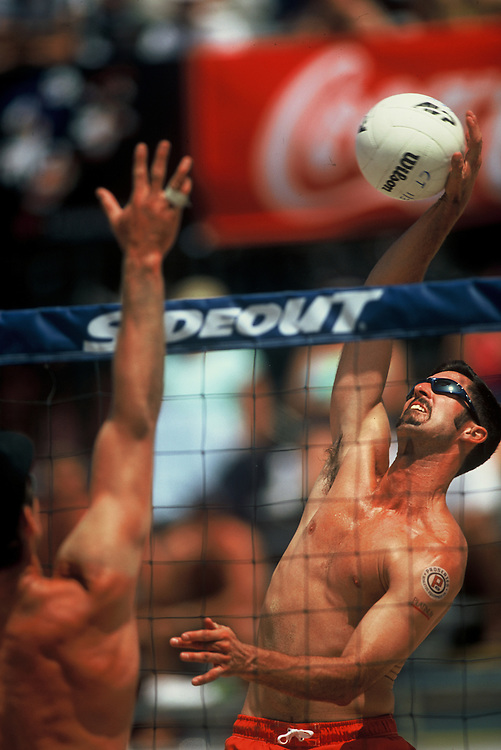 AVP Professional Beach Volleyball - Hermosa Beach, CA - 2001 - Todd Rogers - Photo by Wally Nell/Volleyball Magazine