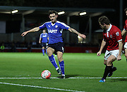 Chesterfield Midfielder Jay O'Shea during the The FA Cup match between FC United of Manchester and Chesterfield at Broadhurst Park, Manchester, United Kingdom on 9 November 2015. Photo by Pete Burns.