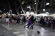tango dance performance on La Rambla Barcelona