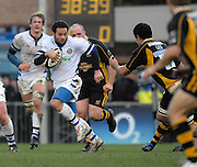 Wycombe, GREAT BRITAIN,  Baths Joe MADDOCK, on the attack, during the Guinness Premiership game London Wasps v Bath Rugby, at Adams Park, Bucks  29/12/2007 [Mandatory Credit Peter Spurrier/Intersport Images]