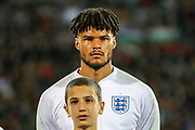 England defender Tyrone Mings in the line up ahead of the UEFA European 2020 Qualifier match between Bulgaria and England at Stadion Vasil Levski, Sofia, Bulgaria on 14 October 2019.