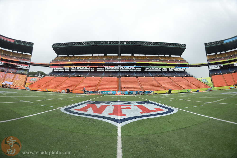 January 26, 2014; Honolulu, HI, USA; General view of Aloha Stadium before the 2014 Pro Bowl.