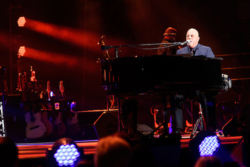 Photos Of The Musician Billy Joel Performing Live On Stage At Madison  Square Garden In New.