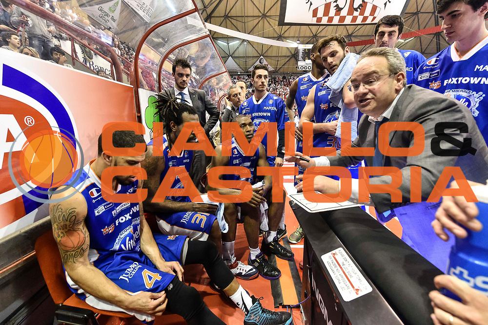 DESCRIZIONE : Campionato 2014/15 Giorgio Tesi Group Pistoia - Acqua Vitasnella Cantu'<br /> GIOCATORE : Stefano Sacripanti<br /> CATEGORIA : Time Out Allenatore Coach<br /> SQUADRA : Acqua Vitasnella Cantu'<br /> EVENTO : LegaBasket Serie A Beko 2014/2015<br /> GARA : Giorgio Tesi Group Pistoia - Acqua Vitasnella Cantu'<br /> DATA : 30/03/2015<br /> SPORT : Pallacanestro <br /> AUTORE : Agenzia Ciamillo-Castoria/GiulioCiamillo<br /> Predefinita :
