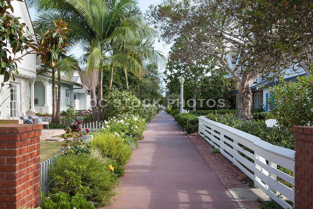 Quaint Newport Beach Residential Neighborhood