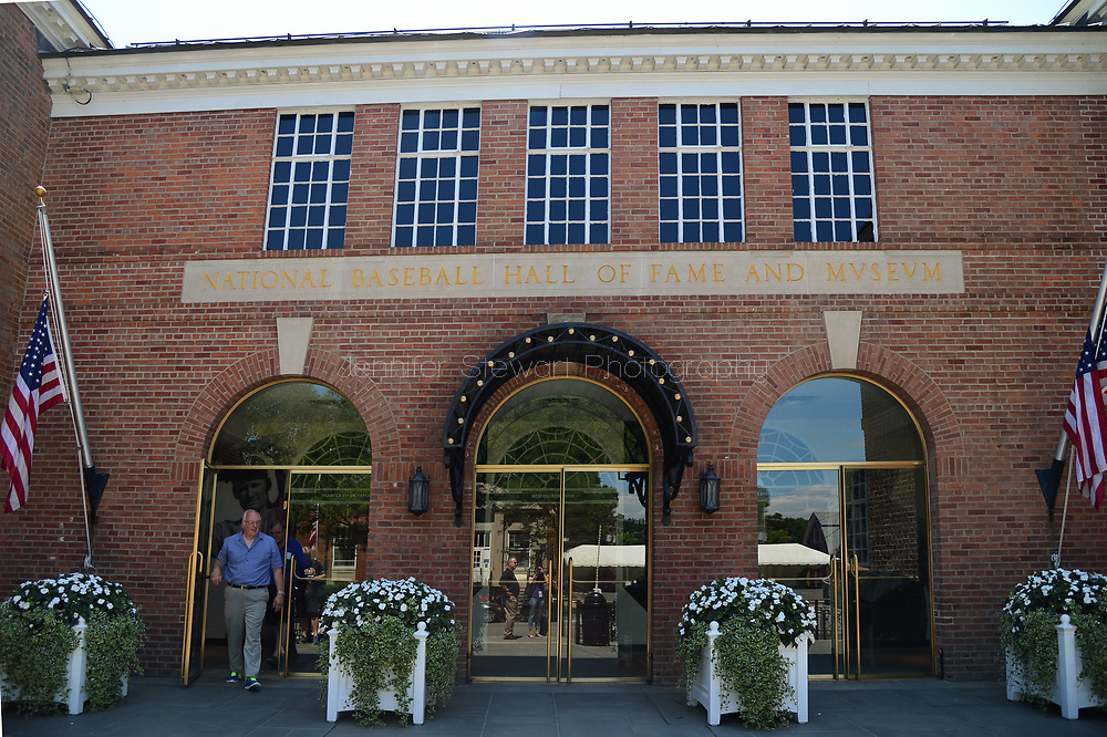 COOPERSTOWN, NY July 24: National Baseball Hall of Fame Museum main entrance in Cooperstown, NY. (Photo by Jennifer Stewart/Arizona Diamondbacks)
