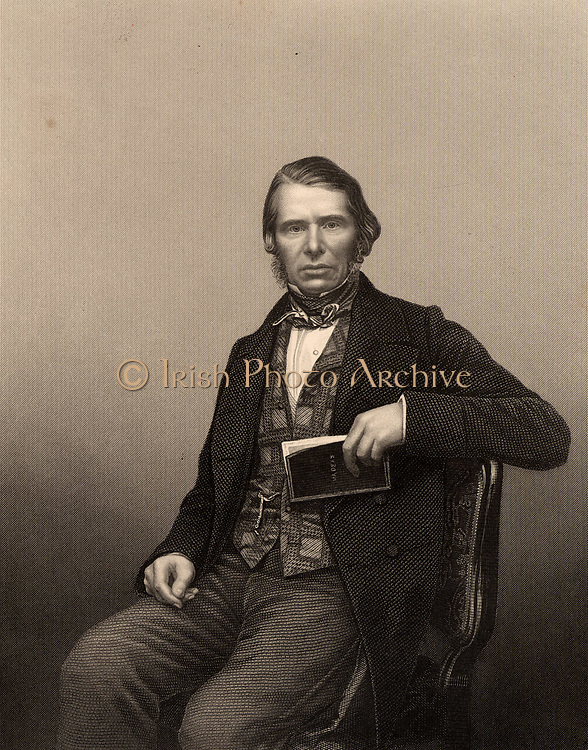 Charles Edward Trevelyan (1807-1876) British colonial administrator and civil servant. Governor of Madras, India, 1859-60. Brother-in-law of Thomas Babington Macaulay.  Engraving from 'The Illustrated News of the World' (London, c1860).