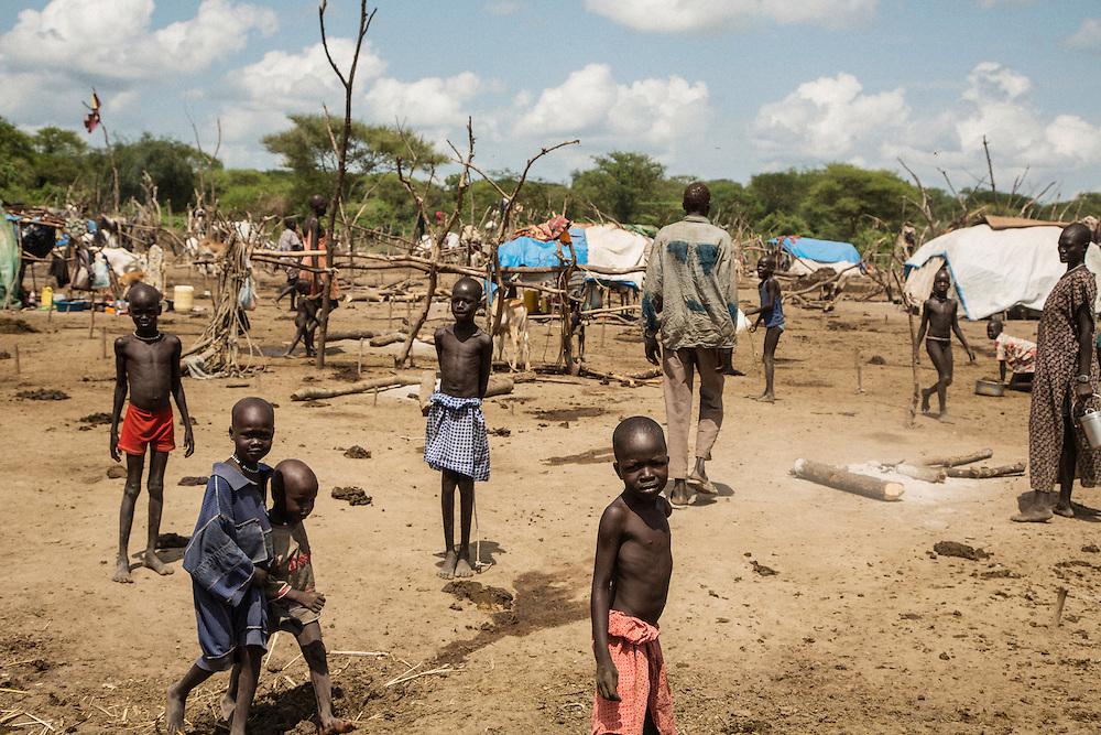 Cattle camps near Bor, South Sudan.