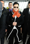 27.JANUARY.2013. NICE<br /> <br /> KOREAN POP SENSATION PSY SURROUNDED BY HIS FANS AT NICE AIRPORT AS HE TAKES A FLIGHT AFTER ATTENDING THE NRJ MUSIC AWARDS.<br /> <br /> BYLINE: EDBIMAGEARCHIVE.CO.UK<br /> <br /> *THIS IMAGE IS STRICTLY FOR UK NEWSPAPERS AND MAGAZINES ONLY*<br /> *FOR WORLD WIDE SALES AND WEB USE PLEASE CONTACT EDBIMAGEARCHIVE - 0208 954 5968*