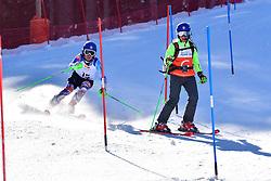 KUBACKA Marek, Guide: ZATOVICOVA Maria, B1, SVK, Slalom at the WPAS_2019 Alpine Skiing World Cup Finals, Morzine, France