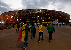 Fans of Ghana prior to the 2010 FIFA World Cup South Africa Quarter Finals football match between Uruguay and Ghana on July 02, 2010 at Soccer City Stadium in Sowetto, suburb of Johannesburg. (Photo by Vid Ponikvar / Sportida)