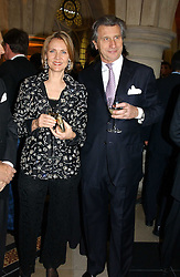 MR & MRS ARNAUD BAMBERGER at The Magic of Winter ball in aid of the charity KIDS held at The Royal Courts of Justice, London on 2nd Ferbruary 2005.<br />