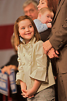 Piper Palin at a Republican party rally for her mother, Sarah Palin, at the Fairbanks International Airport upon her return to Alaska after being named John McCain's Vice President running mate, September 10, 2008