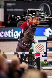SCHWIZER Pius (SUI), la Roshel<br /> Leipzig - Partner Pferd 2019<br /> Equiline Youngster Cup<br /> 1. Qualifikation Youngster Tour für 7 und 8 jährige Pferde<br /> 17. Januar 2019<br /> © www.sportfotos-lafrentz.de/Stefan Lafrentz