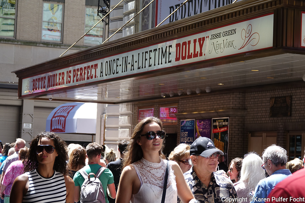 "Shot Sunday July 30, 2017- After being named ""once- in -a life- time Dolly ""- 2017 Tony winner Bette Midler confirms she will make her final performance in Hello, Dolly! at the Shubert Theatre on January 14, 2018."