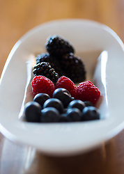 Close up of Mixed Berries in a Bowl