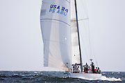 Valiant sailing in the Museum of Yachting Classic Yacht Regatta, race one.