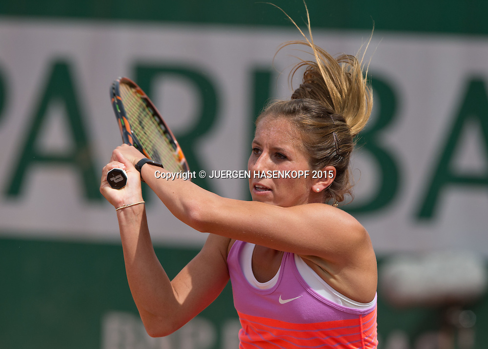 Annika Beck (GER)<br /> <br /> Tennis - French Open 2015 - Grand Slam ITF / ATP / WTA -  Roland Garros - Paris -  - France  - 29 May 2015.