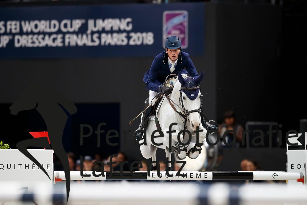 DEUSSER Daniel (GER), Cornet D'Amour<br /> Paris - FEI World Cup Finals 2018<br /> Longines FEI World Cup Jumping Final III<br /> www.sportfotos-lafrentz.de/Stefan Lafrentz<br /> 15. April 2018