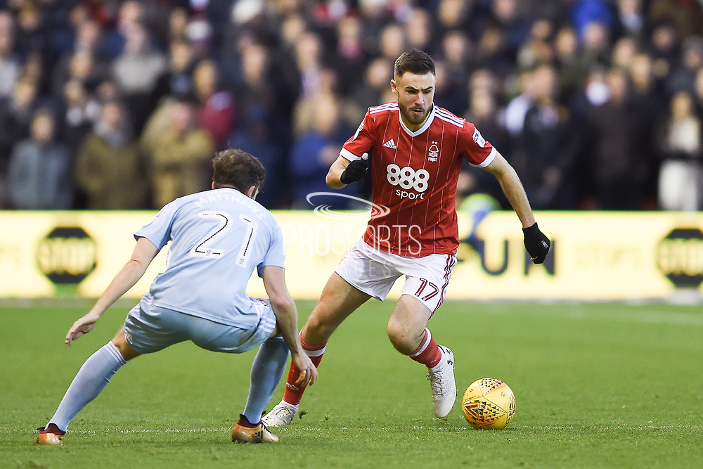 Nottingham Forest forward Ben Brereton (17) during the EFL Sky Bet Championship match between Nottingham Forest and Sunderland at the City Ground, Nottingham, England on 30 December 2017. Photo by Jon Hobley.
